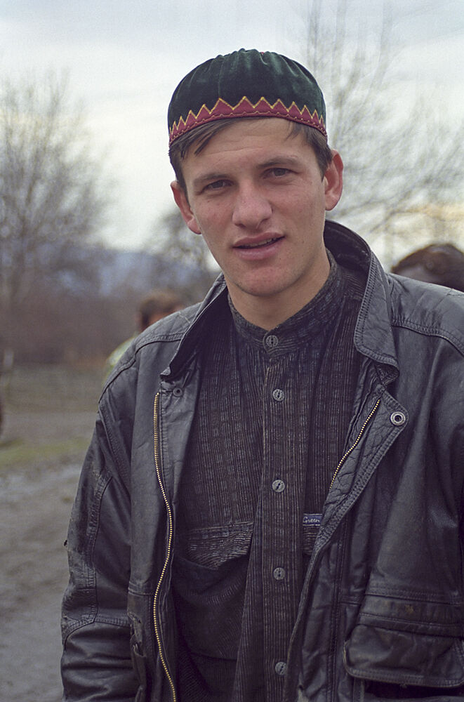 Portrait of young man in North Caucasus