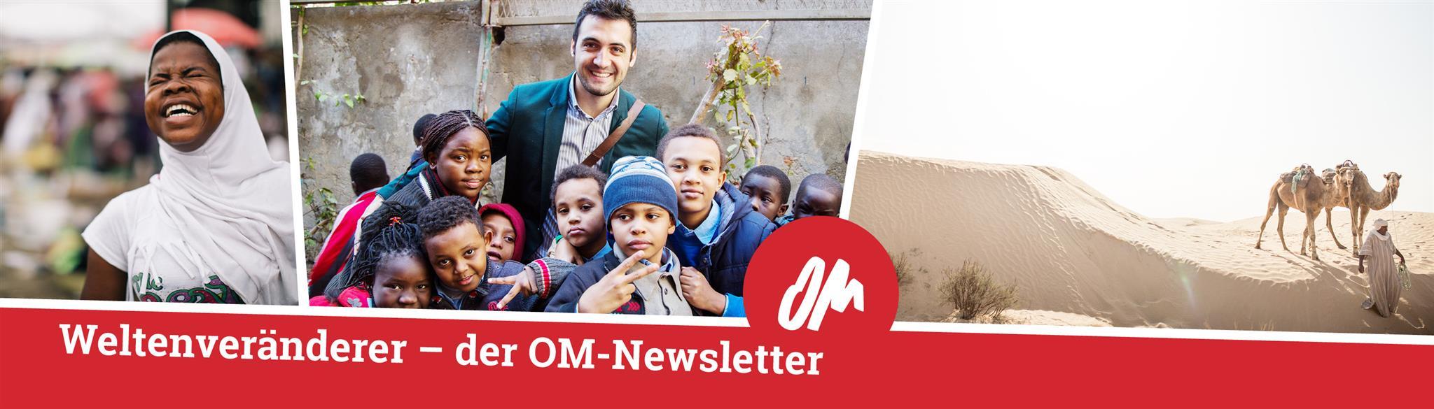 Einladung, den OM-Newsletter #Weltenveränderer zu abonnieren