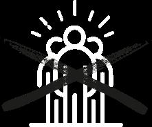 Icon durchgestrichene Personen, das symbolisiert das es keine christliche Gemeinschaft gibt