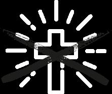 Icon durchgestrichenes Kreuz, das symbolisiert das niemand das Evangelium verbreitet