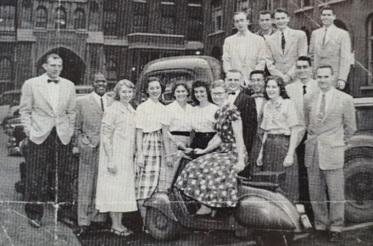 Jean mit ihren Kollegen bei ihrer 2. Reise nach Mexiko