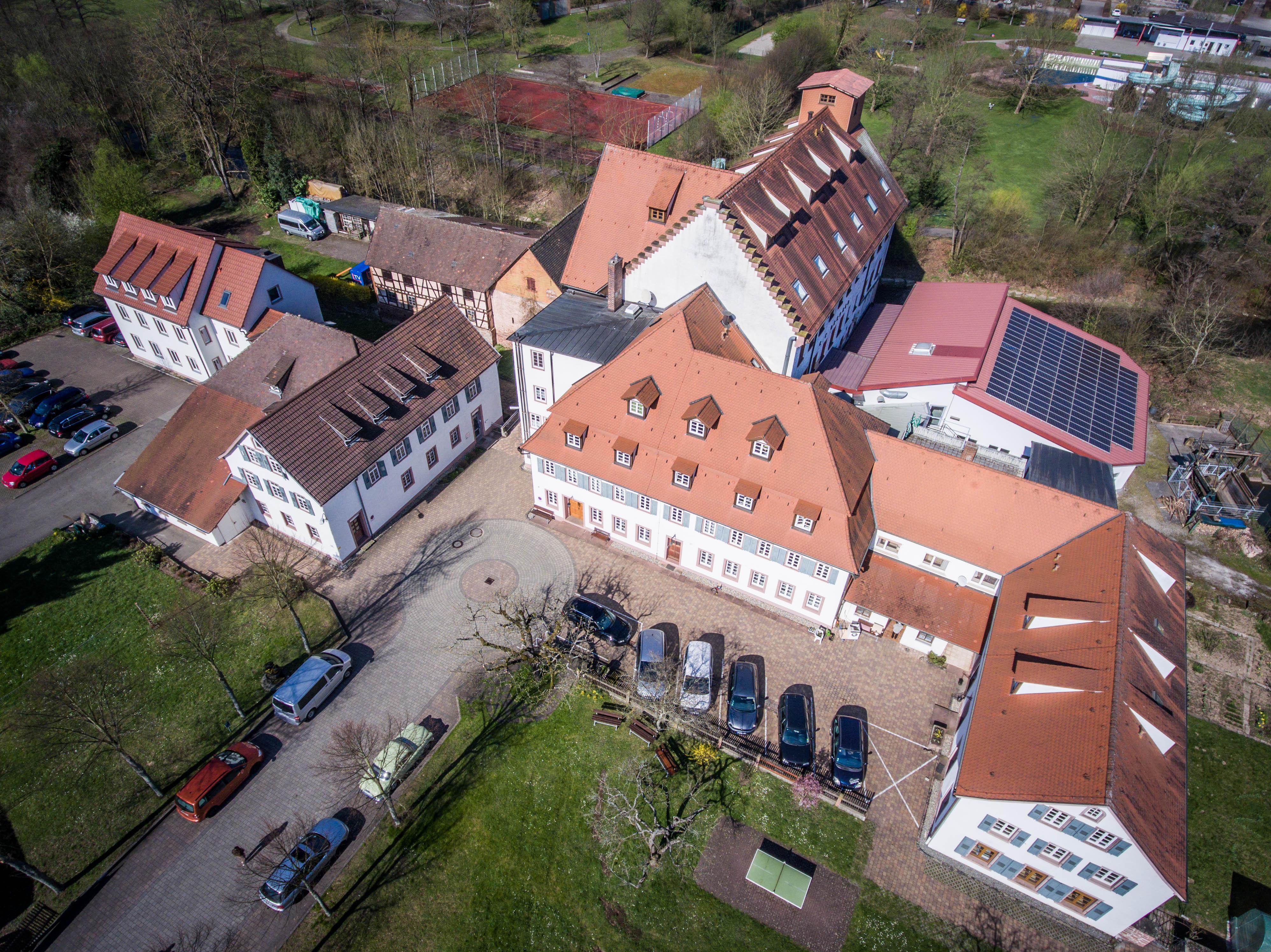 Luftbild der OM-Deetken-Mühle
