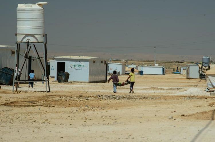 Poikia Lähi-Idän pakolaisleirillä