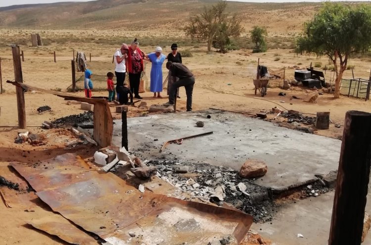 The family had an agonising experience in 2019 when their house burnt down with all their belongings in it.